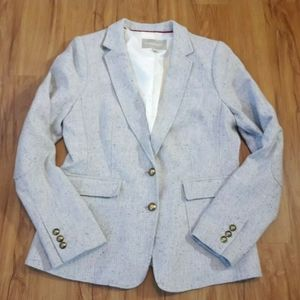 Banana Republic Gray Hacking Jacket Blazer Size 12